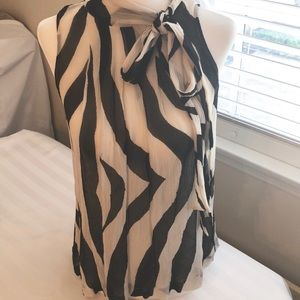 Spiegel sleeveless silk top; very classy